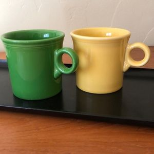 Fiesta Ware Mugs Ring Handle Set of 2